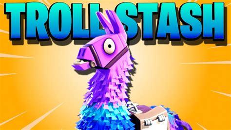 legendary troll stash llama opening fortnite save
