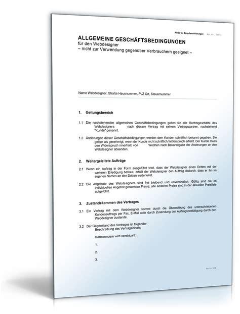 Design Vertrag Vorlage Allgemeine Gesch 228 Ftsbedingungen Vorlagen 187 Dokumente Vorlagen