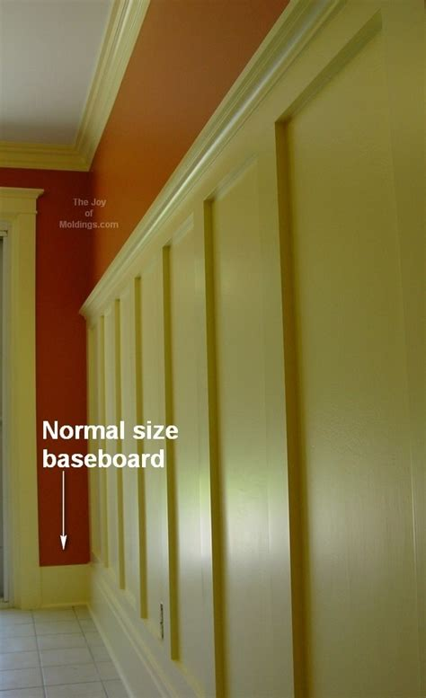 Baseboard For Wainscoting by How To Transition Wainscoting Baseboard Into Door Trim