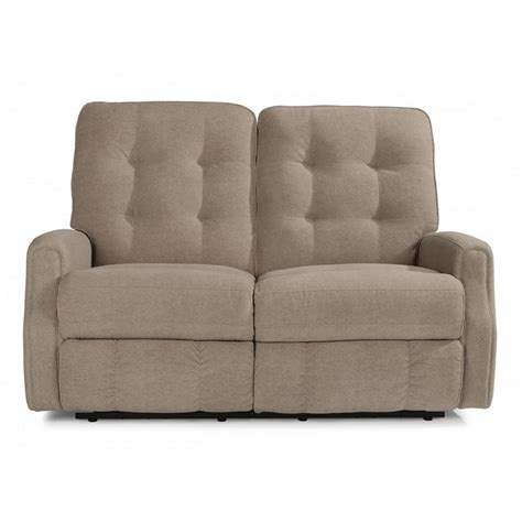 leather recliner with nailhead trim flexsteel 3882 60 devon leather reclining loveseat without