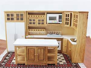 dollhouse kitchen furniture doll house kitchen furniture wooden toys cabinet w oven