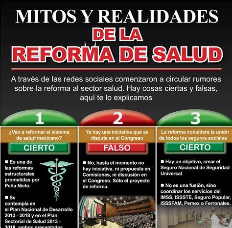reformas de salud de agosto de 2015 los mitos y realidades de la reforma a la salud