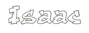 dibujo para colorear nombre isaac