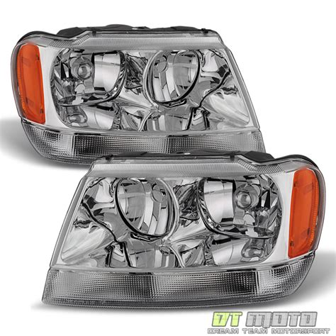 2000 Jeep Grand Headlights 99 04 Jeep Grand Limited Headlights Replacement