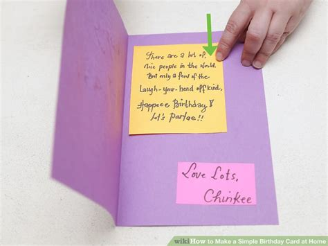 birthday cards how to make at home 4 ways to make a simple birthday card at home wikihow