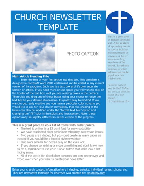 Download Newspaper Template For Free Formtemplate Free Church Newsletter Templates For Microsoft Word