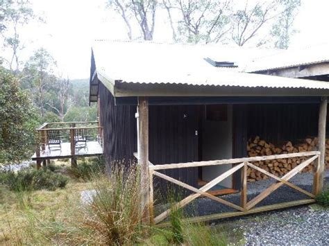 Pine Cabin by New Snowfall Picture Of Peppers Cradle Mountain Lodge