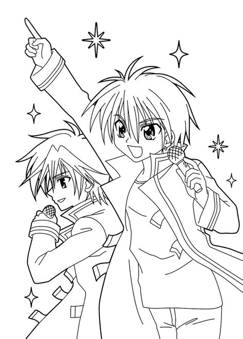 Coloring Pages Of Anime Characters 136 best images about coloring sheets on chibi