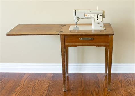retro sewing machine table turn a sewing table into a bar cart chica and jo