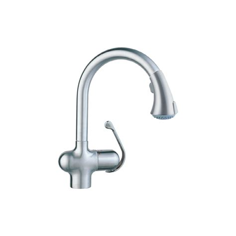 shop grohe ladylux cafe stainless steel pull down kitchen faucet at lowes com