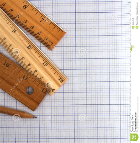 How To Make A Paper Ruler - millimeter paper ruler and pencil stock photo image