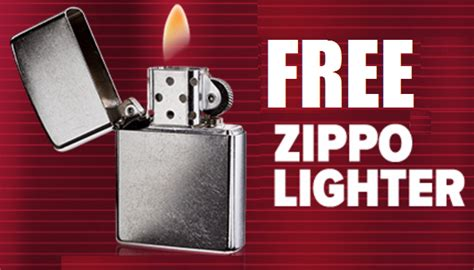 Tobacco Giveaways 2017 - free zippo lighter open to tobacco consumers heavenly steals