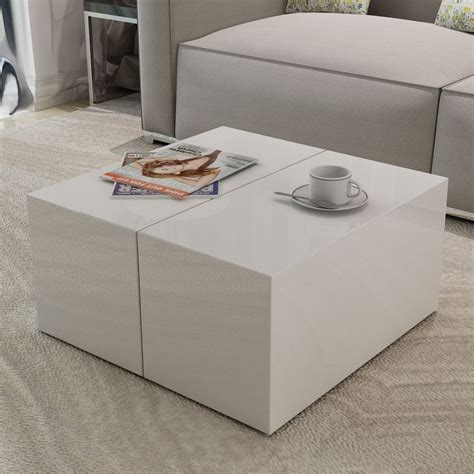 white coffee tables with storage high gloss white coffee table w storage compartment buy
