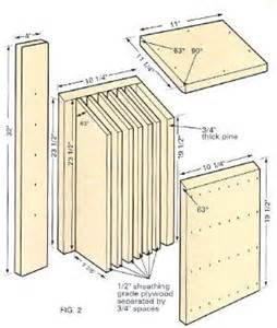 Plans For Bat Houses 27 Bat House Plans Bat Nurseries Bat Rocket Boxes Bird Bat Boxes And More Bat House