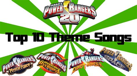 theme songs power rangers top 10 power rangers theme songs of all time youtube