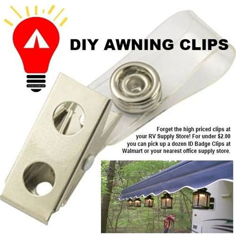 rv awning light clips diy awning clips just plain good for ya pinterest