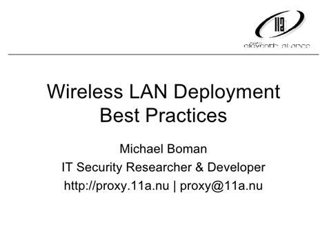 wireless lan deployment best practices