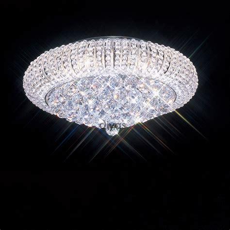 diyas uk iris il30002 chrome 6 light flush ceiling