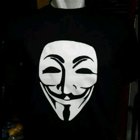 T Shirtskaos Anonymous Jual Kaos Gildan Soft Style T Shirt Hitam Anonymous Di