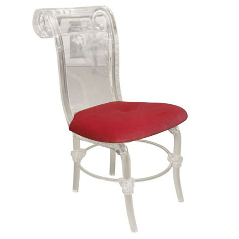 Lucite Chair by Helena Rubinstein Style Lucite Chair At 1stdibs