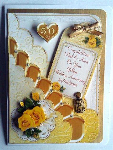 50th wedding anniversary personalised cards personalised 50th golden wedding anniversary ca folksy