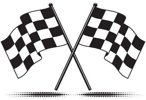 printable racing banner checkered cliparts