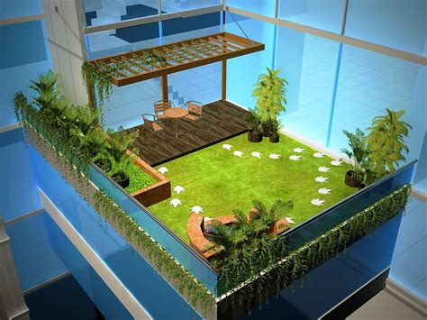 terrace garden section small terrace open to sky gardening cad files dwg files