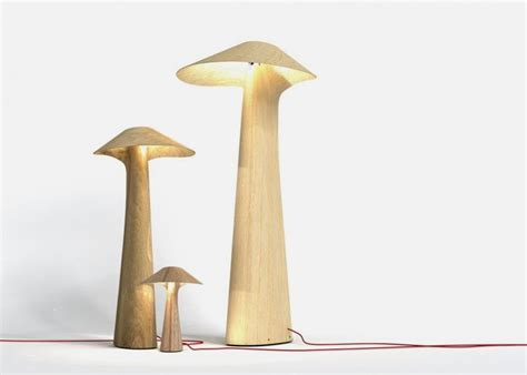 Cool Planters Unique Mushroom Like Lamps Made Of Single Bent Plywood