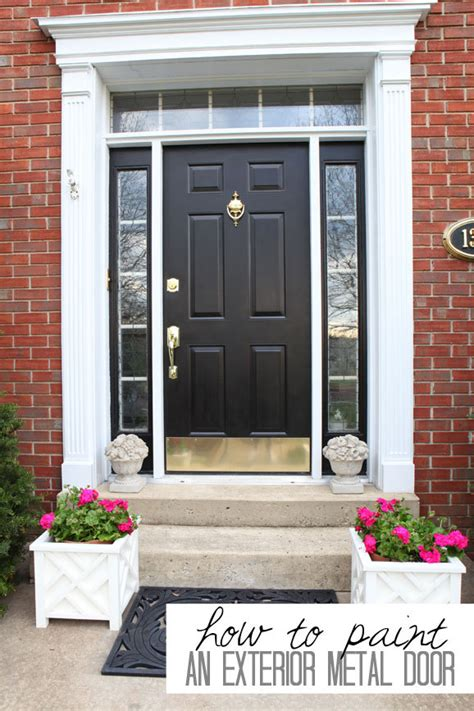 How To Paint Your Front Door 12 Tutorials Shelterness Painting A Metal Front Door