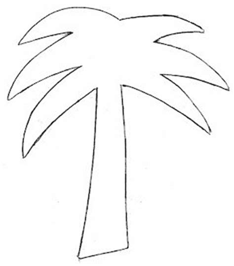 Palm Tree Leaves Outline by 1000 Images About Templates On Coloring Pages Cupcake Template And Gift Tags