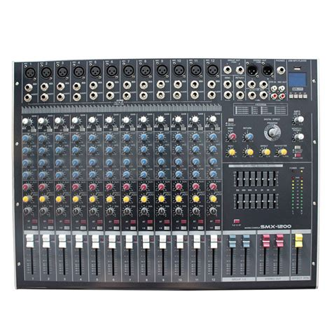 Mixer Audio Built Up mini audio mixer console dj with usb built in effect