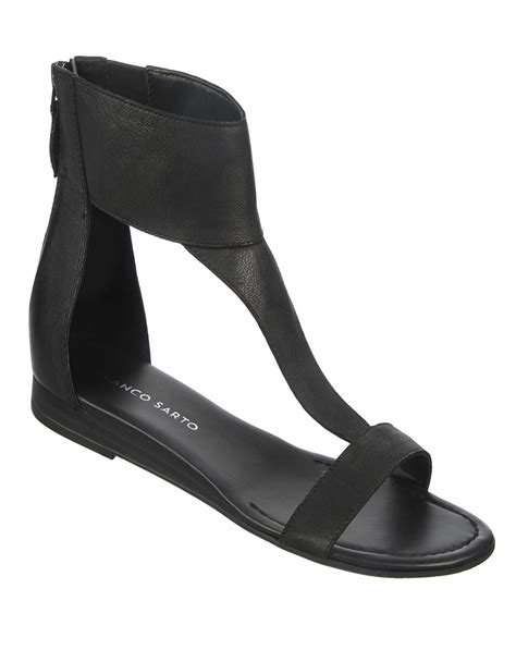 franco sarto black sandals franco sarto gelato sandals in black lyst