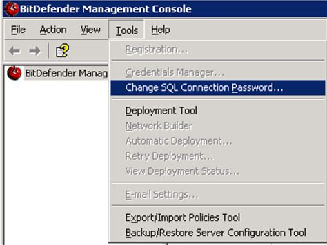 reset bitdefender password how to reset sql server sa password using microsoft sql