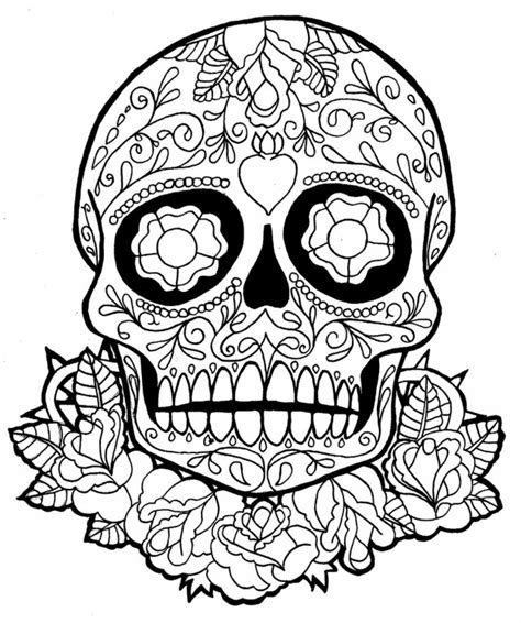 Sugar Skull Coloring Page Az Coloring Pages Sugar Skull Coloring Pages