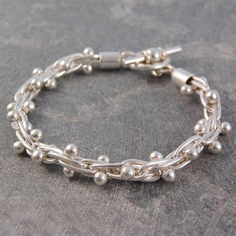 peppercorn solid silver bracelet by otis jaxon silver