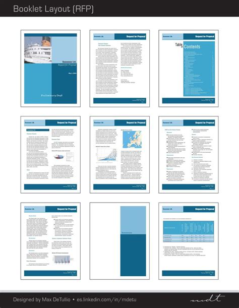 layout design proposal extracted pages of a request for proposal rfp booklet