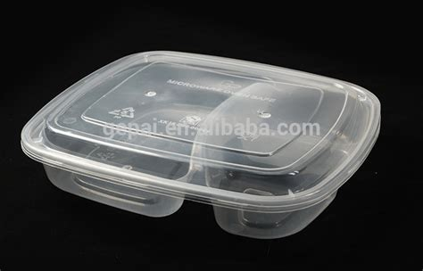 Box Makanan Container Makanan Ultra Pack microwave compartment disposable food tray plastic food