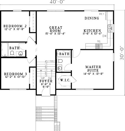basement entry floor plans entry porch with grand ceilings 59880nd 1st floor master suite cad available den office