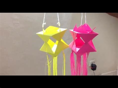How To Make Origami Lanterns - wesak lantern origami