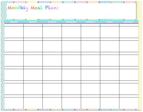 monthly dinner calendar template write happy ending