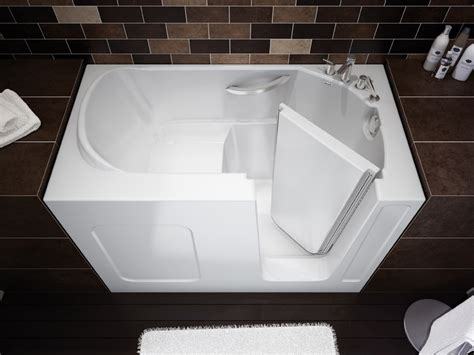 walking bathtub compact walk in bathtub by maax professional digsdigs