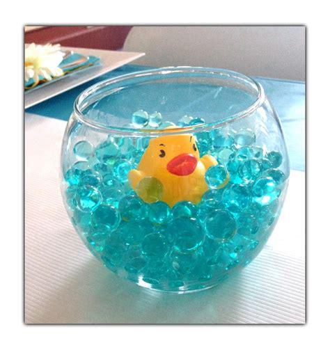 baby shower centerpiece favor glass quot fishbowl quot aqua