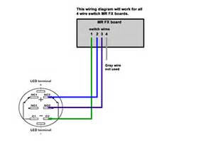 switch wiring diagram for mr board with 4 wire switch