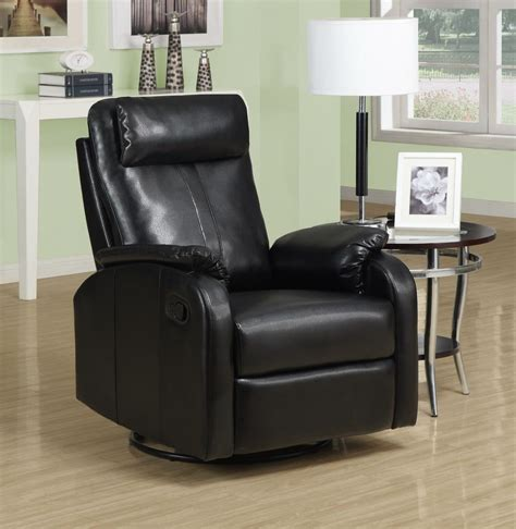 black rocker recliner black swivel rocker recliner 8081bk monarch