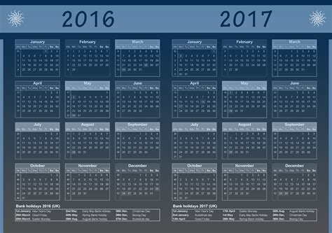 printable calendar 2016 with bank holidays 2016 2017 calendar uk with bank holiday list 2018 2017