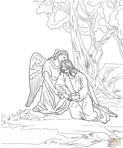 coloring pages jesus in gethsemane agony in the garden coloring page free printable