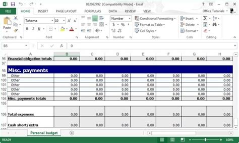Free Personal Budget Planner Template For Excel Small Business Budget Template Free