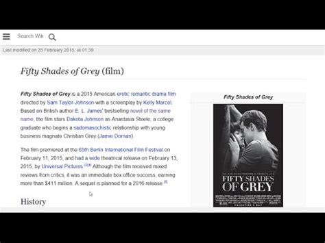 shades of gray wikipedia fifty shades of grey film wikipedia youtube