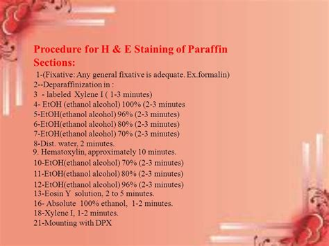 h e staining protocol paraffin sections staining haematoxylin eosin ppt video online download