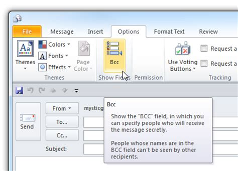 Bcc Help Desk by How To Use Bcc Blind Carbon Copy In Outlook 2010